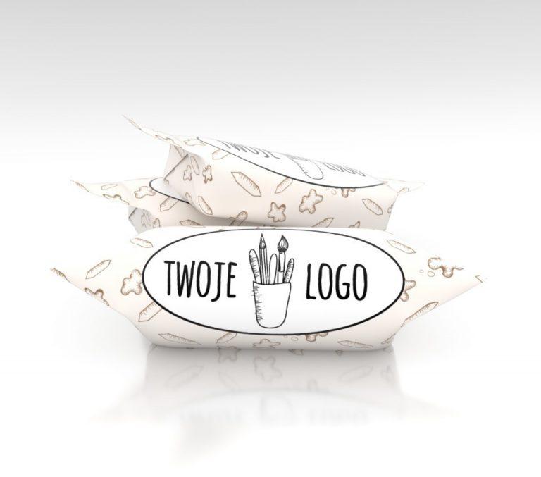 Cukierki z logo z wybranym napisem